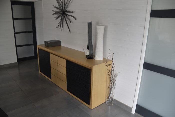 réalisation d'un meuble de salon sur-mesure