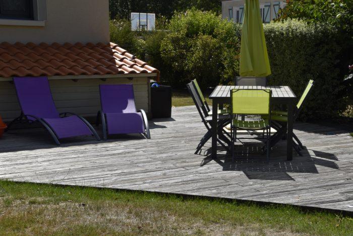 réalisation d'une terrasse bois.