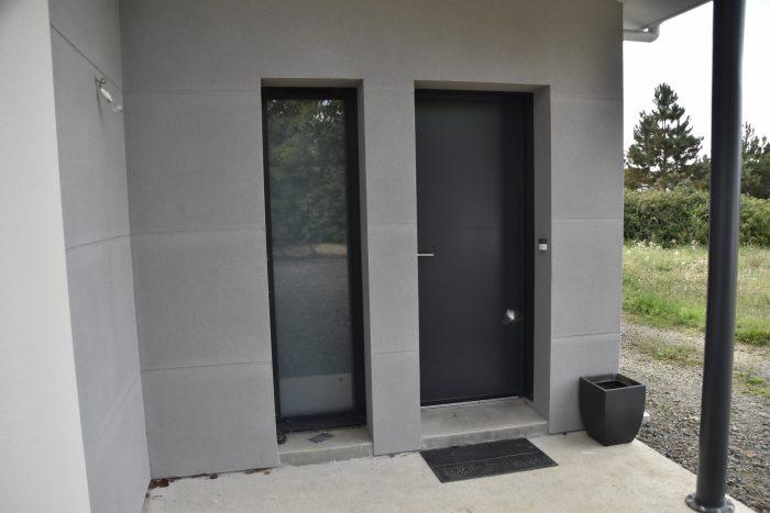 porte d'entrée et fenêtre fixe